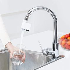 Original Xiaomi Mijia ZaJia Induction Sense Infrared Automatic Water Saving Smart Home Device For Kitchen Bathroom Sink Faucet Water Tap, Save Water, Water Faucet, Water Saving Devices, Bidet, Water Energy, Water Efficiency, Induction, Energy Saver