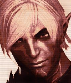 Dragon Age Fenris Cross Stitch Pattern by CrossStitchTreasury