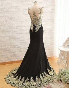 New Arrival Gold Lace Black Prom Dresses Mermaid Prom Dress Crystal Long Evening Gowns sold by Dresscomeon. Shop more products from Dresscomeon on Storenvy, the home of independent small businesses all over the world. Black Prom Dresses, Prom Party Dresses, Party Gowns, Homecoming Dresses, Dress Prom, Dress Black, Dress Long, Sleeveless Dresses, Lace Dresses