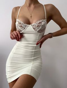 Sexy Summer Dresses, Summer Dresses For Women, Cheap Dresses, Stunning Dresses, Pretty Dresses, Chic Outfits, Fashion Outfits, Cute White Dress, Clubwear For Women