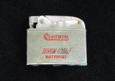 Century Silvium Cobalt Batteries Branded Lighter