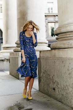 Our new jersey dress is the kind that makes switching from work to play as easy as heels, handbag, lipstick. Shop with 15% off for 24 hours with code LDN1 (UK) or LDN2 (US) #Boden #AW14