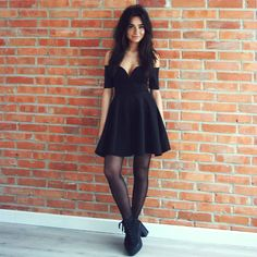 Weronika Zalazinska -  - Black dress