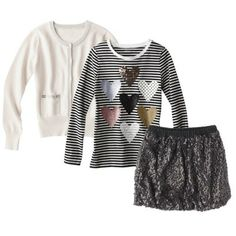 Girls' Black and White Outfit