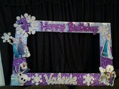 frozen frame for photos Frozen Birthday Party, Disney Frozen Party, Frozen Theme Party, 2nd Birthday Parties, Birthday Ideas, Party Photo Frame, Party Frame, Photo Booth Frame, Photo Booths