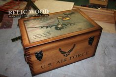 This is by far our most popular Custom US Military Gift! At Relic Wood we show our appreciation to our military branches by making top notch retirement gifts! There is no better way to show them how proud you truly are than giving them a handmade keepsake box that shows off all of their career