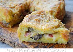Torta salata patate salame e funghi ricetta facile