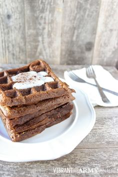 Pumpkin EggNOs, delicious and crispy waffles are possible on the autoimmune protocol | Vibrant Life Army Wife #paleo #AIP #nutfree #glutenfree