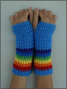 MLP Rainbow Dash Armwarmers by RebelATS