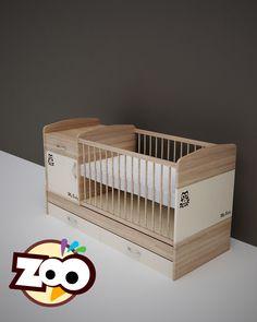 ZOO – kombi gyerekágy  #gyerekágy Cribs, Bed, Furniture, Home Decor, Products, Cots, Decoration Home, Bassinet, Stream Bed