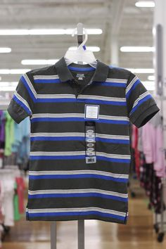 Blue Striped Polo (available only in stores)    Click image to see weekly ad  #MeijerKidsLooks and #BacktoSchool.