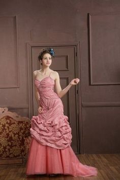 Coral ball gown