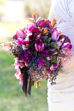 Purple themed bouquet #aromabotanical