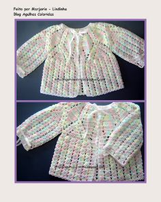 Free pattern crochet: beautiful and easy baby sweater - tutorial with pics