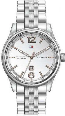 Tommy Hilfiger Silver 'Andre' Watch Tommy Hilfiger. $79.34. Round Stainless Steel Case. Date. Water Resistance : 15 ATM / 150 meters / 500 feet. Steel Bracelet Strap. Save 60% Off!