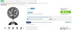[LuiZONA] Ventilador Arno Silence Force 30 R$ 99 (somente 110v)