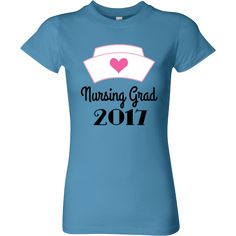 Class of 2017 student nurse grad Women's Fitted T-Shirts for a new nurse to celebration from nursing school graduation. $19.99 www.personalizedgraduate.com