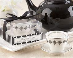 Bridal Shower Tea Party Favors Personalized Tea Wedding Favors  Tea Cup Tea LIght