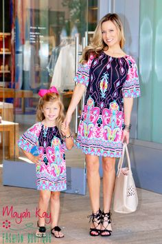 5d95d4b07101 Mommy & Me Black & Pink Paisley Shift Dress - Toddlers & Girls
