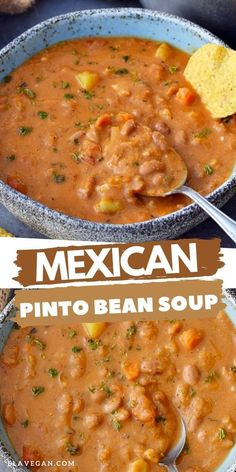Bean Soup Recipes, Recipe For Bean Soup, Simple Soup Recipes, Crock Pot Soup Recipes, Easy Bean Recipes, Vegan Bean Recipes, High Protein Vegetarian Recipes, Vegetable Soup Recipes, Veggie Soup