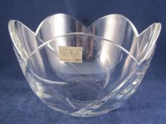 Mikasa Cachet Scalloped Crystal Bowl Slovenia Mint Scalloped Tulip Shape | eBay