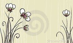 Card with stylized flowers by Essl, via Dreamstime