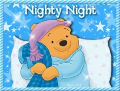 Good night sweet dreams my friend! Winnie The Pooh Pictures, Cute Winnie The Pooh, Winnie The Pooh Quotes, Winnie The Pooh Friends, Cute Good Night, Good Night Gif, Good Night Sweet Dreams, Good Night Image, Good Night Greetings
