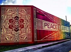 Two Beautiful Shepaird Fairey Murals at Art Basel
