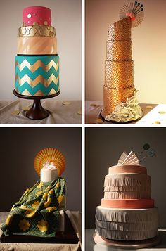 unique wedding cakes//Charm City Cakes//Modern Weddings