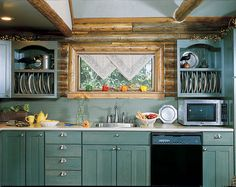 Tips On Pinterest Building A Log Cabin Log Homes And Small Kitchens