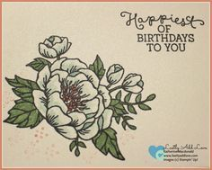 Birthday Blooms Birthday Cards  Set of 4 cards and envelopes using Stampin' Up! Birthday Blooms stamp set.