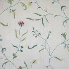 A panel from a dress of c. 1780's English fine polychrome silk floral embroidery on a light weight cotton ground (mull). The design is beautifully drawn with a botanical sense and carefully embroidered. From ktaylor-lotus.cpm