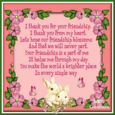I thank you for your friendship... friendship quote friend friendship quote friend quote graphic