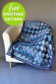 Woven Sky Blanket Free Knitting Pattern Woven Sky is a throw knitting pattern that's perfect as a lap blanket or baby blanket. It features a beautiful entrelac stitch pattern edged with a garter border. This project features machine washable Universal Major yarn. Completed Throw Measures: