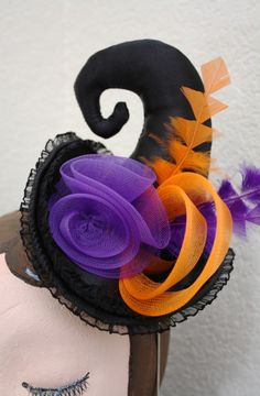 Min Witches Hat Fascinator $50 #hats #fascinator