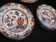 "Victorian Minton Stone China Dinner Service - ""Amherst Japan"" Pattern"