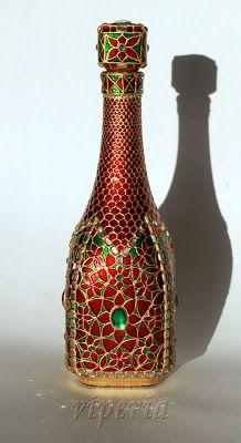 Когда приходит вдохновение...: Роскошная бутылка в восточном стиле и мастер-класс...