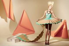 paper dress for Madame magazine by Matthew Brodie and Hattie Newman