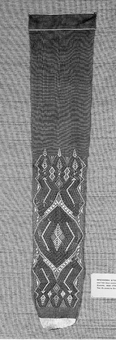 Pair of openwork stockings | Museum of Fine Arts, Boston  1650-1750 knitting