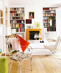 Love this room...I want barcelona chairs!!!!