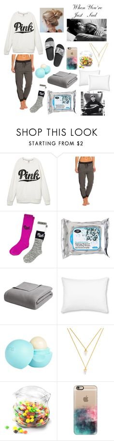 """""""When You're Just Sad [Zerkaa/Josh]"""" by learning-to-love ❤ liked on Polyvore featuring Victoria's Secret, Onzie, Madison Park, L.L.Bean, River Island, BaubleBar, Dot & Bo and Casetify"""