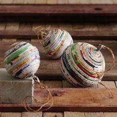 esferas de tiras de papel
