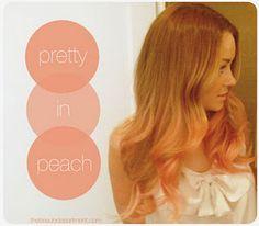 peach highlights!