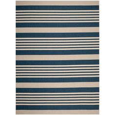 Courtyard Navy/Beige (Blue/Beige) 9 ft. x 12 ft. Indoor/Outdoor Rectangle Area Rug
