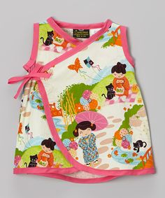 Pink Little Kimono Girl Wrap Dress - Infant