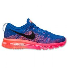 Nike Flyknit Air Max Royal Bleu Rouge Femme Foot Locker