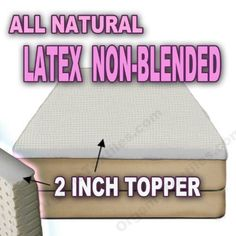 All Natural Latex Non Blended Mattress Topper with Preferred SOFT Firmness 2 inch thick - KING by OrganicTextiles. $349.95. All natural latex topper with soft firmness (22-24 ILD) 2 Inch thick. All natural latex toppers made from eco-harvested rubber tree with soft firmness 2 Inch thick.. Sizes: Twin - 38x75, Full - 53x75, Queen - 60x80, King - 76x80, Cal King - 72x84. Adds a layer of comfort and support with purity associated with organic products. No chemical...