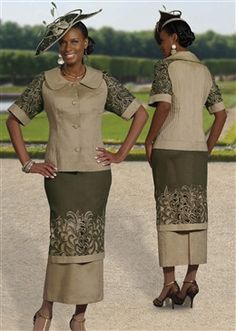 Green Cutwork Embroidered Pleat Front 2pc Dress