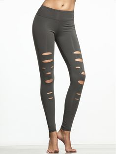 These leggings are a cut above the rest, and damn good looking too. They've got just the right level of stretch to keep everything in place, but the slits (aside from being really hot) make sure you've legs can breathe during those tough yoga poses.