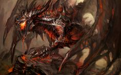 General 2560x1600 dragon fantasy art  World of Warcraft Deathwing